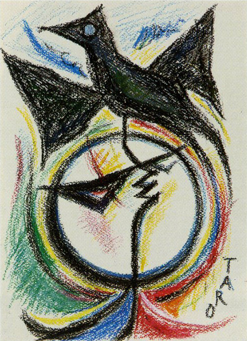 岡本太郎「鳥と太陽」